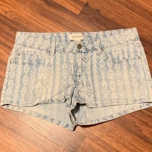 Forever 21 Striped Shorts Sz28